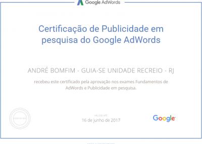 Guia-se Unidade Recreio - Google Adwords - Certificado - Publicidade em pesquisa