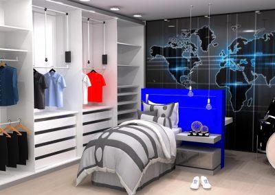 Projetos de Quarto e Closet Planejados Roberto Almeida Interiores 12