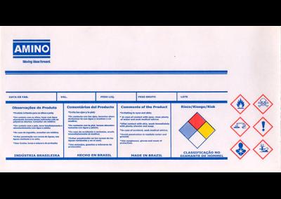 Etiquetas industriais e químicos