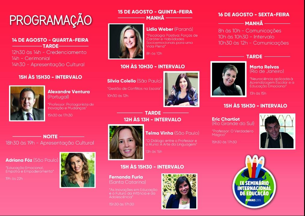 IX Seminário Internacional da Educação
