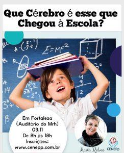 Cartaz da palestra Que Cérebro É Esse que Chegou à Escola?