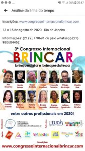 Cartaz do 3 Congresso Internacional Brincar Brinquedista e Brinquedoteca