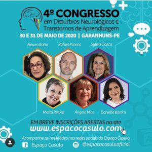 Cartaz do 4 Congresso em Distúrbios Neurológicos e Transtornos de Aprendizagem