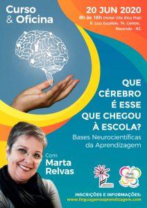 Cartaz do Curso e Oficina Bases Neurocientíficas de Aprendizagem