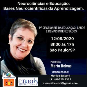 Cartaz Neurociência e Educação - Bases Neurocientíficas da Aprendizagem