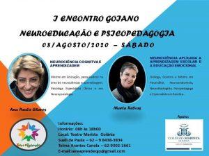 cartaz do I Encontro Goiano Neuroeducação e Psicopedagogia