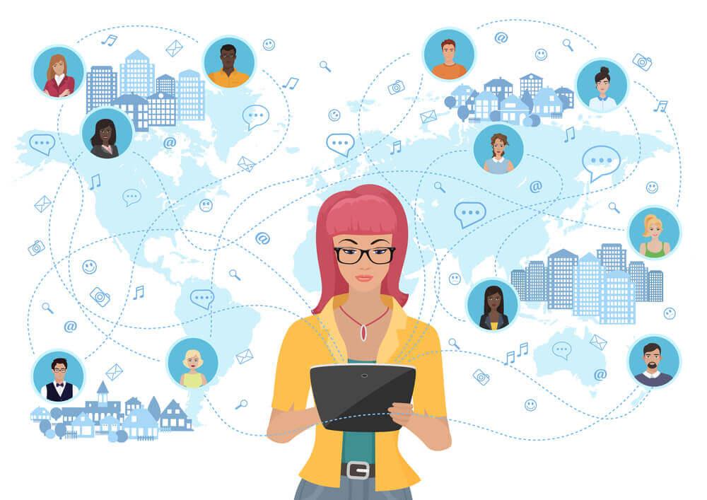 O cliente está conectado nas mídias sociais
