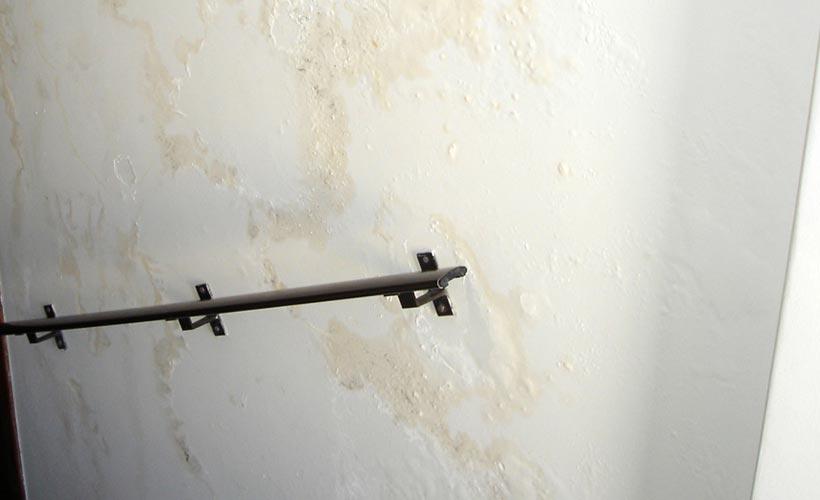 parede umida vazamento de agua