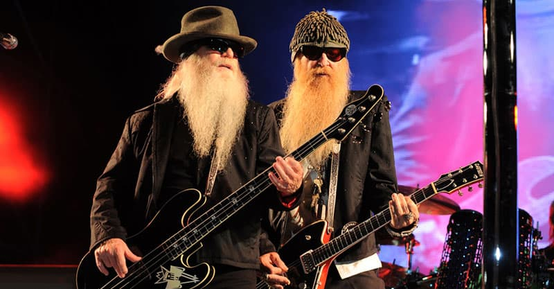 ZZ Top rock the crowd on stage
