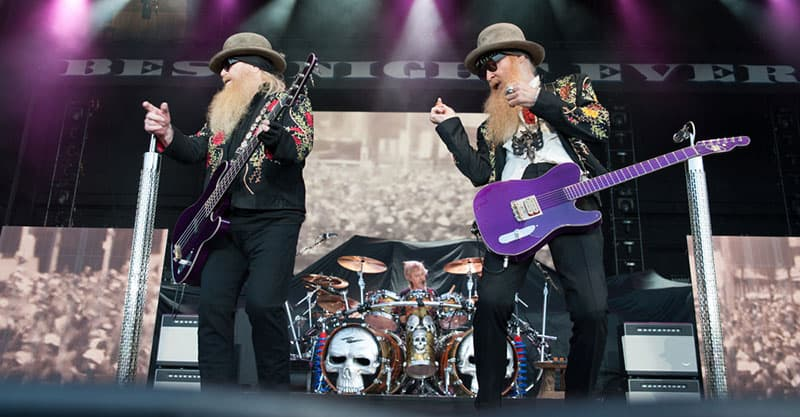 ZZ Top performing on stage