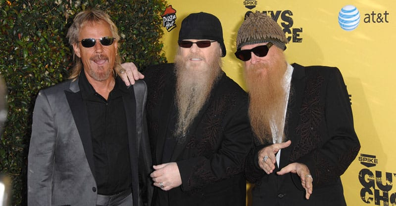 Spike TVs choice awards with ZZ Top