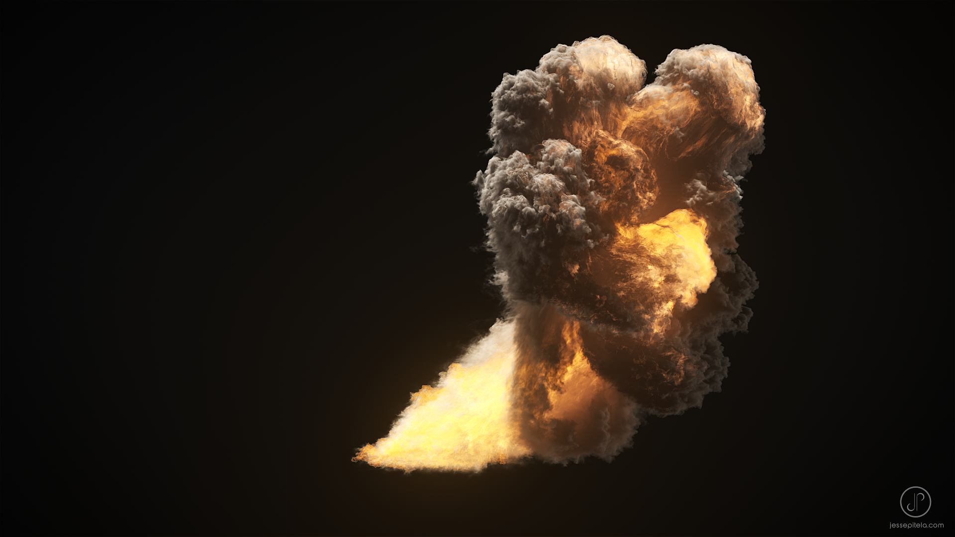 Oxygen Explosion Project File (3ds Max, Phoenix FD, Vray)