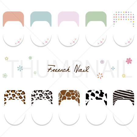 French Nail Art Vector eps