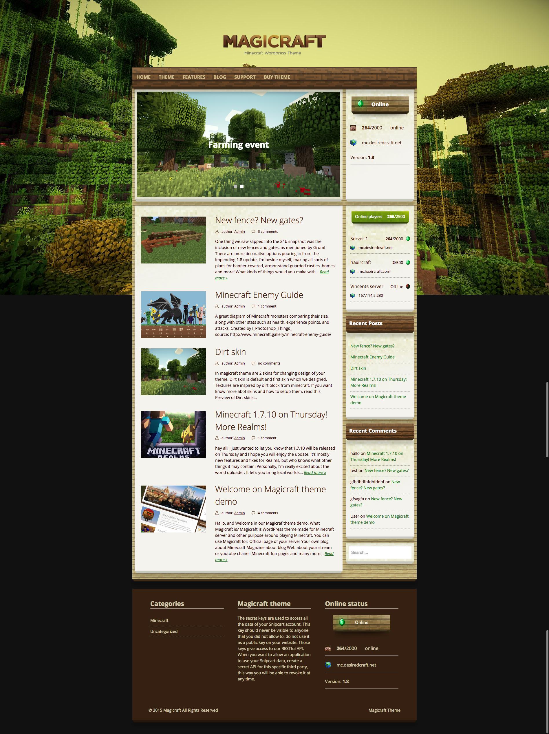 html шаблоны для майнкрафт сайта #10
