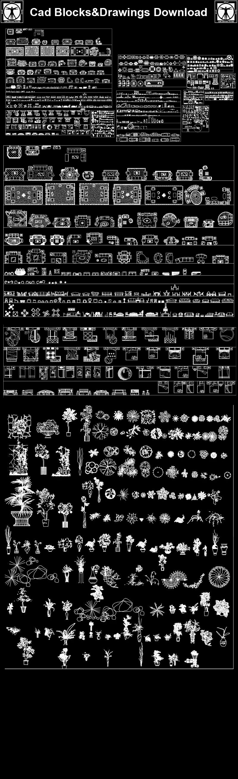 Mix Cad blocks collections】 | Free CAD Download World ...