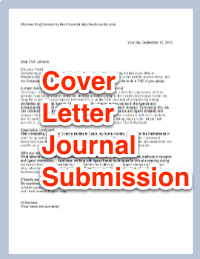 Cover letter to academic journal for submission