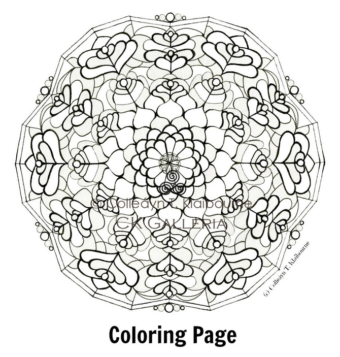 Peacock Feather Mandala Coloring Page