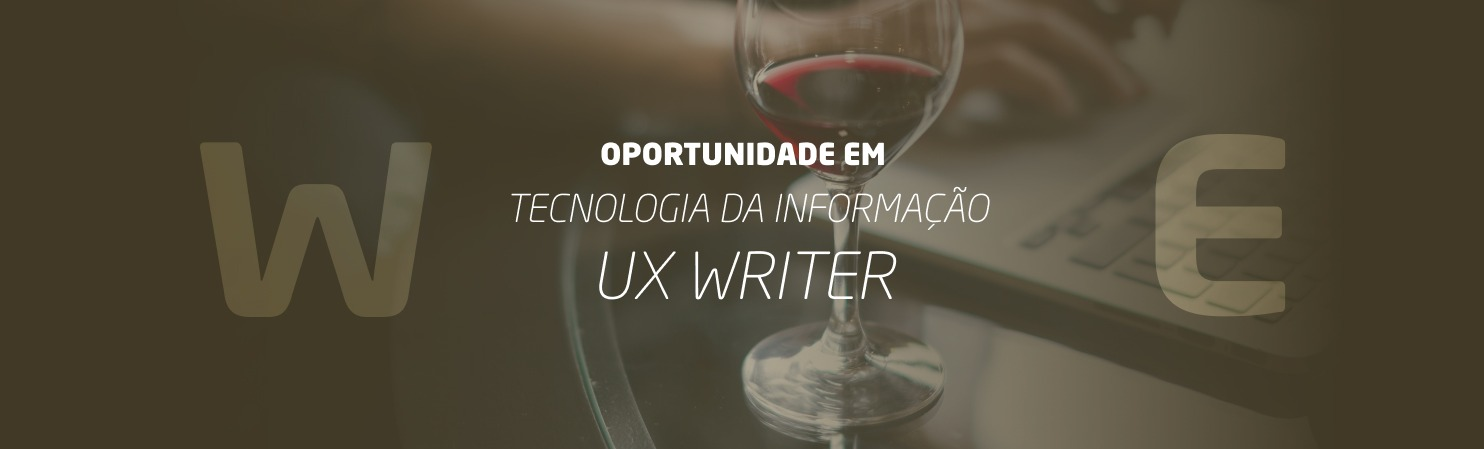 UX Writer - Vitória/ES