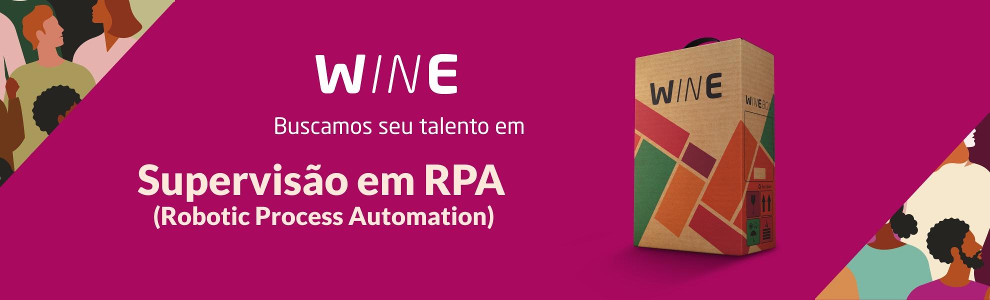 Supervisão na área RPA (Robotic Process Automation)