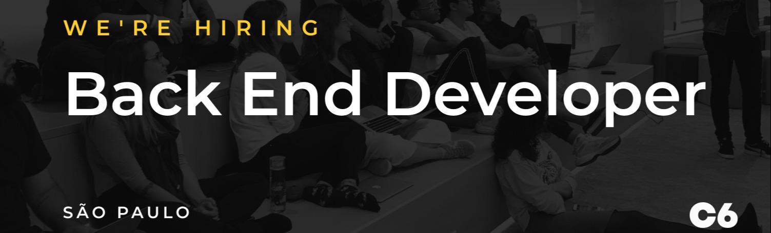 Pessoa Desenvolvedora Back End