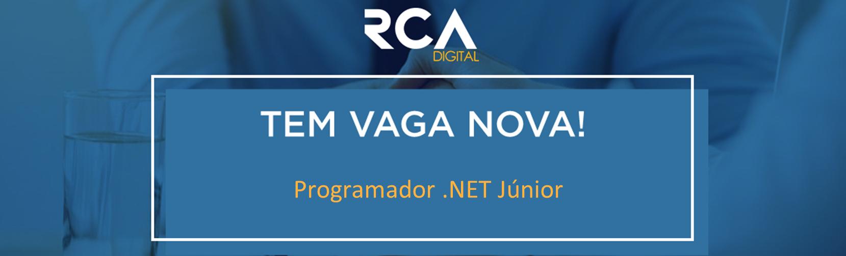 [RCA] - Programador .NET Júnior