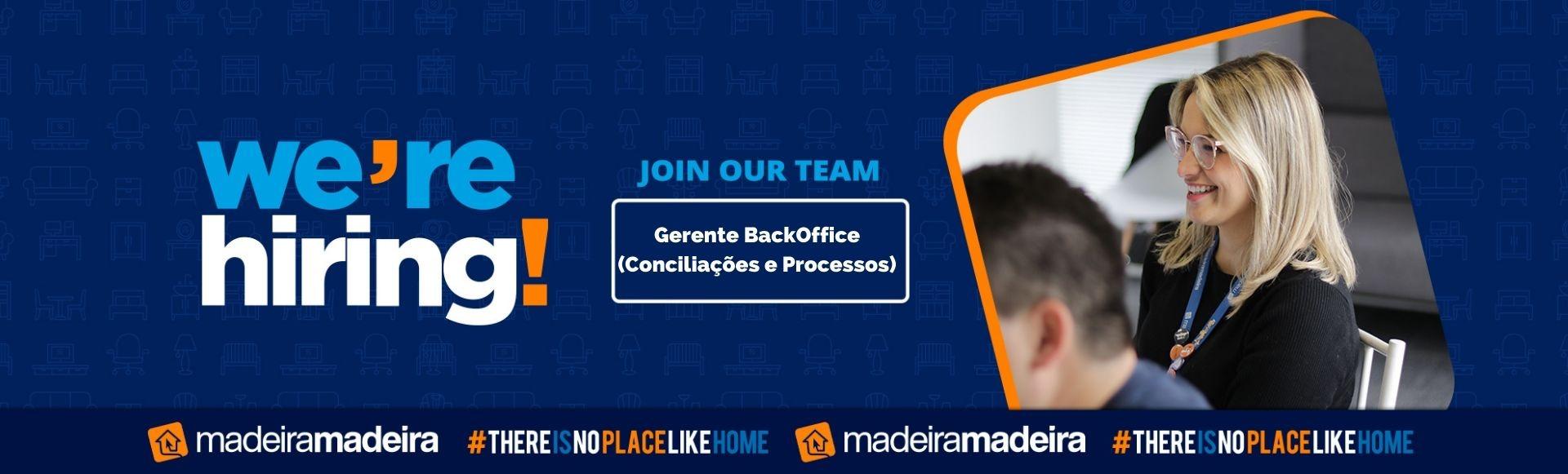 Gerente  BackOffice (Conciliações e Processos)