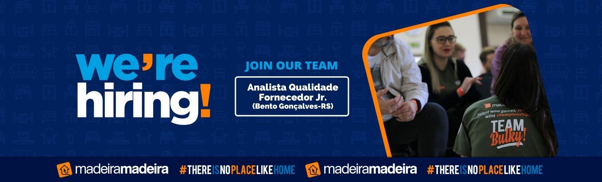 Analista Qualidade Fornecedor Jr (Bento Gonçalves-RS)