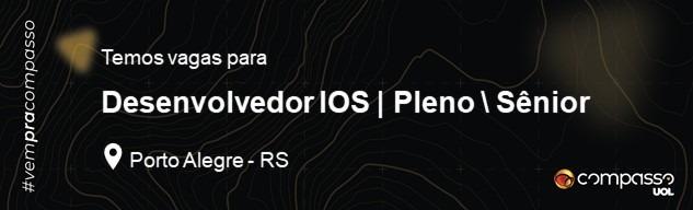 Desenvolvedor IOS   PL/SR