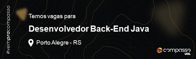Desenvolvedor Back-end Java | PL/SR