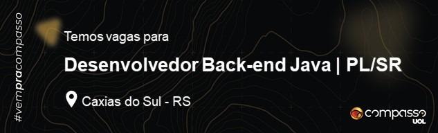 Desenvolvedor Back-end Java   PL/SR
