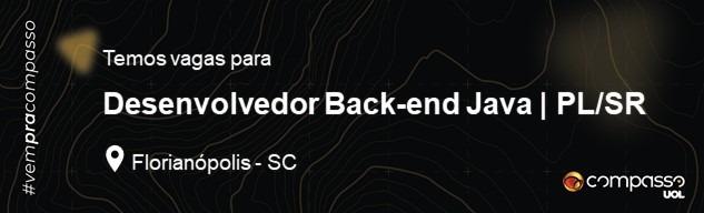 Desenvolvedor Back-end Java | PL/SR