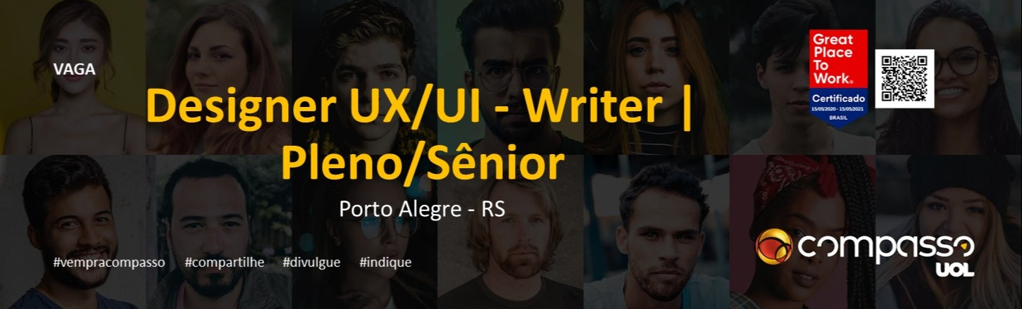 Designer UX/UI - Writer | Pleno/Sênior