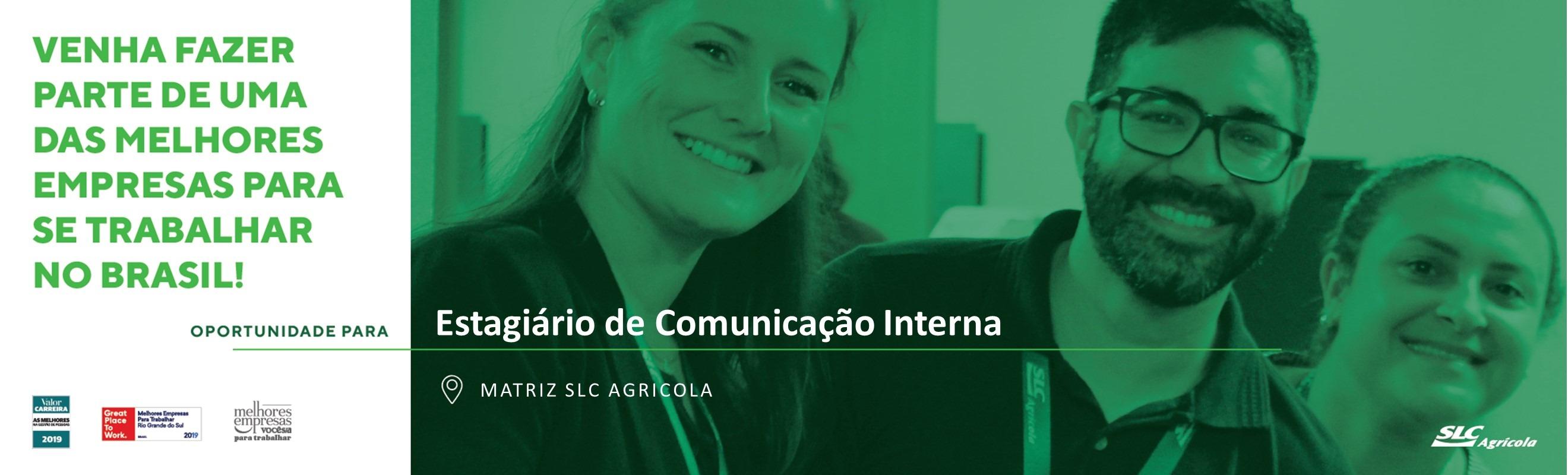 Estagiário de Comunicação Interna