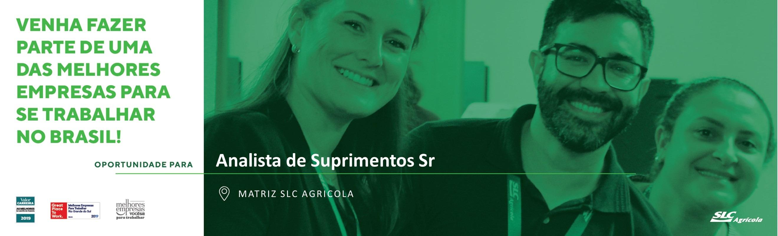 Analista de Suprimentos Sr - Porto Alegre/RS