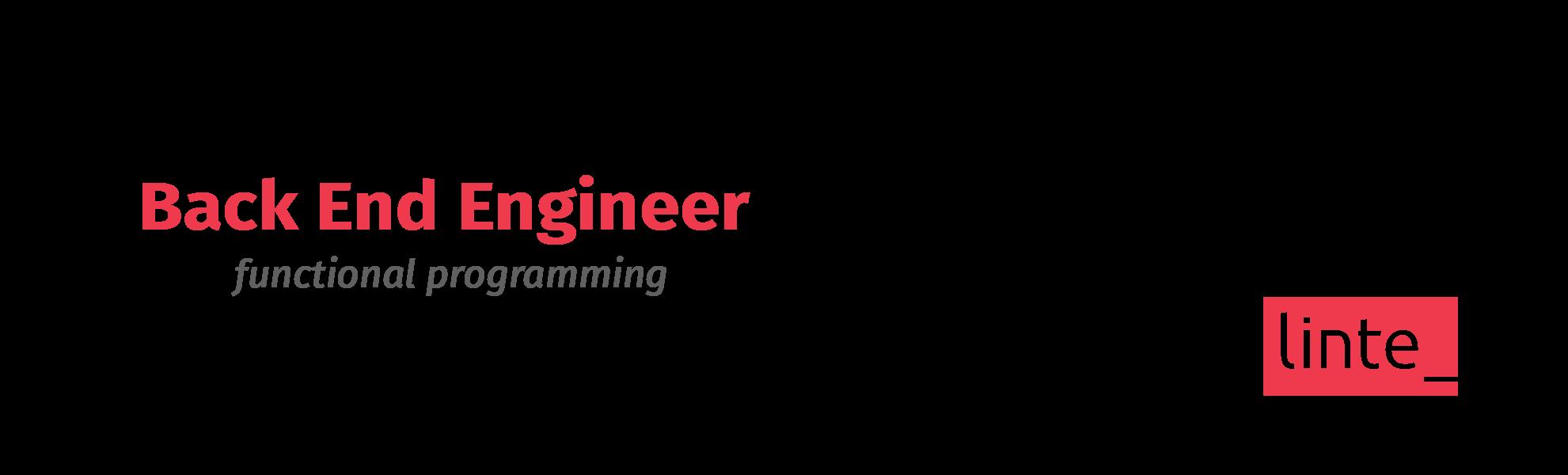Back End Engineer