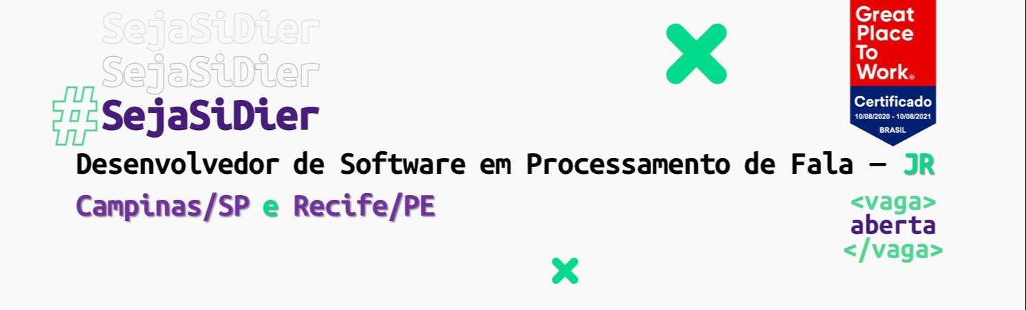 Desenvolvedor  de Software em Processamento de Fala - JR