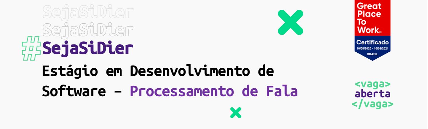 Estágio em Desenvolvimento de Software em Processamento de Fala