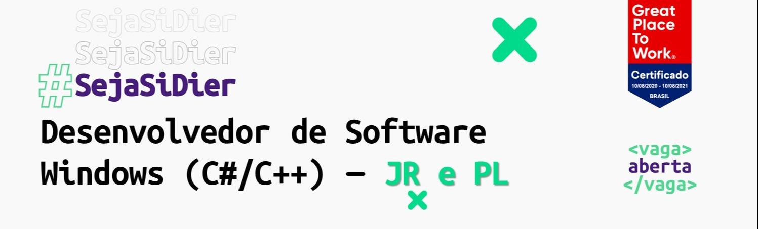 Desenvolvedor de Software Windows (C#/C++) - JR e PL