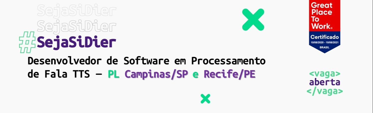 Desenvolvedor de Software em Processamento de Fala (TTS) - PL