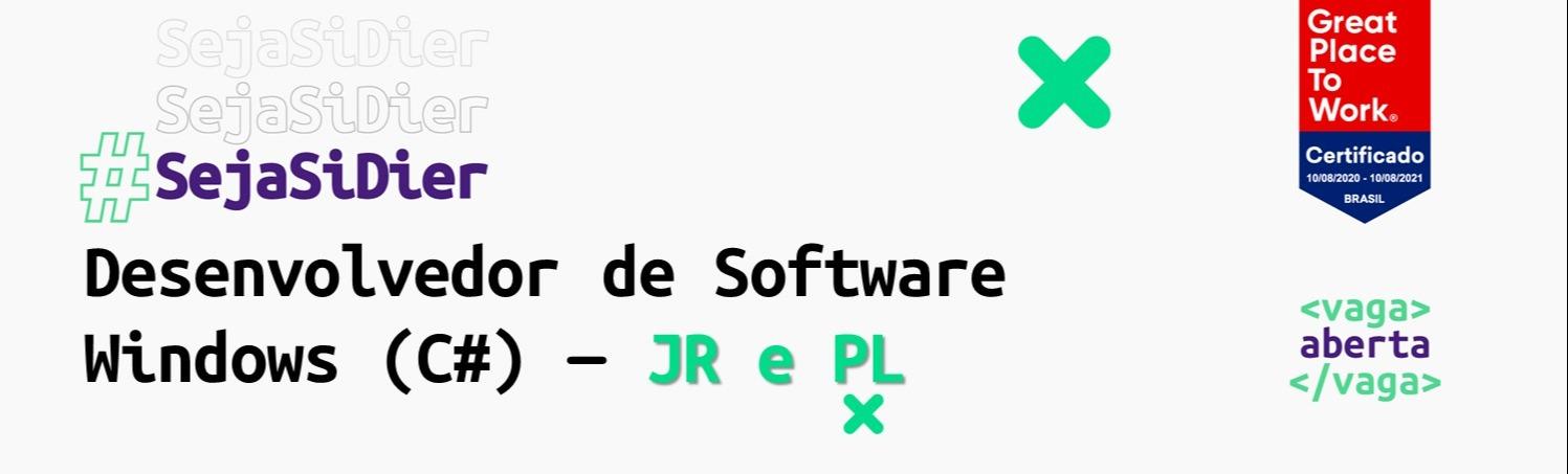 Desenvolvedor de Software Windows (C#) - JR e PL