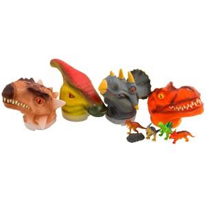 Cabeza de Dinosaurio Grande con Dinosaurios Dentro +6