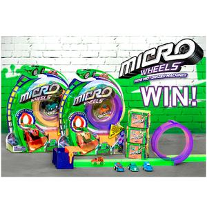 Micro Wheels Mini Pista De Carreras + 2 Autos