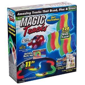 Magic Tracks Pista Flexible Luminosa 220 Piezas 1 Auto