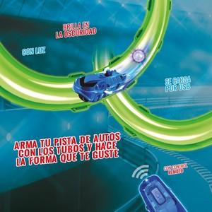 Pista de Tubo Luminosa a Radio Control 36 Piezas 1 Auto Desafia la gravedad