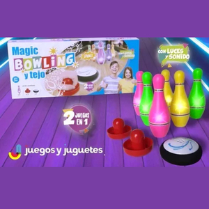 Juego Magic Bowling y Tejo 2 en 1 con Luces