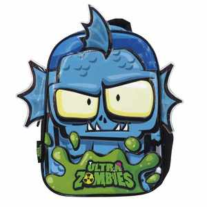 "Mochila Ultra Zombies 12"" Jardin Monstruo Acuatico 3D Original"