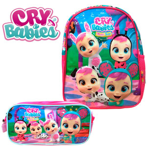 "Combo Cry Babies Mochila 12"" y Cartuchera Original"