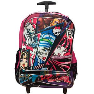 """Super Promo Mochila Monster High 18"""" Carro Original"""