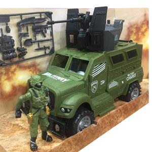 Camion Blindado Militar + Soldado + Armas 24cm