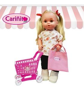 Muñeca Maricela Supermercado Dice 6 Frases con Carrito y Comida